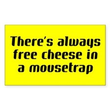 free cheese... Rectangle Decal