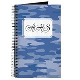 Camouflage Blue Journal