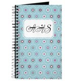 Dot Flower Blue Journal