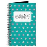 Dot Flower Teal Journal