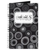Dot Pattern Black Journal