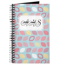 Dot Pattern Blue Pink Journal