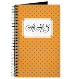 Diagonal Dots Orange Journal