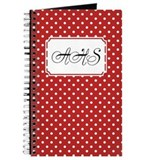 Diagonal Dots Red Journal