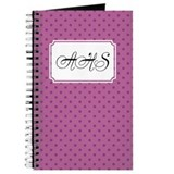 Diagonal Dots Violet Journal