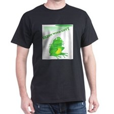 Green with Envy Black T-Shirt