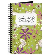 Flower Botanical Green Journal