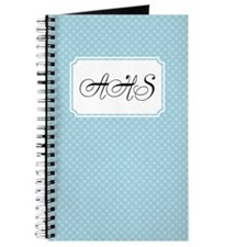 Flower dots LightBlue Journal