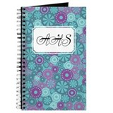 Flower Dot Layer Blue Purple Journal
