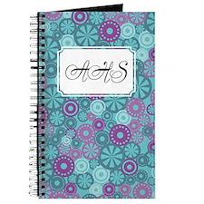 Flower Dot Layer Blue Purple Journal