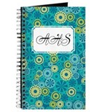 Flower Dot Layer Teal Green Journal
