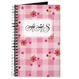 Flower Gingham Pink Journal