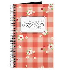 Flower Gingham red Journal