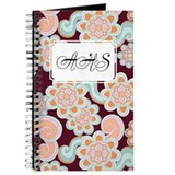 Flower Retro Brown Journal