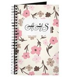 Flower Simple Pink White Journal