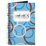 Geometric Circles Blue Journal