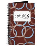 Geometric Circles Brown Journal