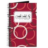 Geometric Circles Red Journal