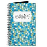 Mosaic Dots Blue Journal