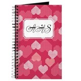 Geometric Hearts Pink Journal