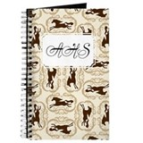 Horse Silhouette Tan Journal