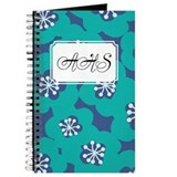 Flower Teal Blue Journal