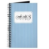 Pinstripe2color Blue Journal