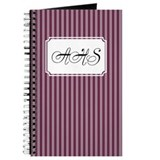 Pinstripe Double Grape Journal