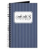Pinstripe Double Navy Journal
