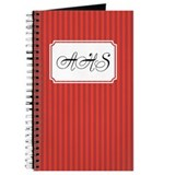 Pinstripe Double Red Journal