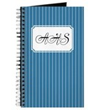 Pinstripe Blue Journal