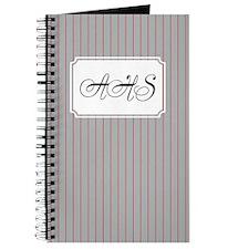 Pinstripe Grey Red Journal