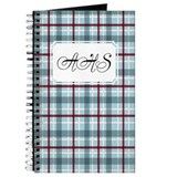 Plaid Basic Blue Red Journal