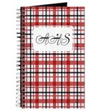 Plaid Basic red Journal