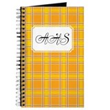 Plaid Classic Yellow Journal