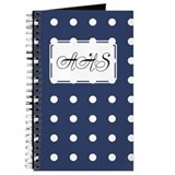 Polka Dots Navy Journal