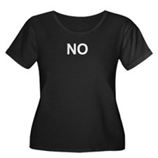 No Women's Plus Size Scoop Neck Dark T-Shirt