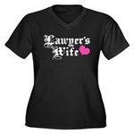 Lawyer's Wife Women's Plus Size V-Neck Dark T-Shir