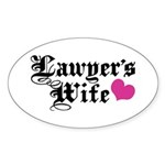 Lawyer's Wife Sticker (Oval)