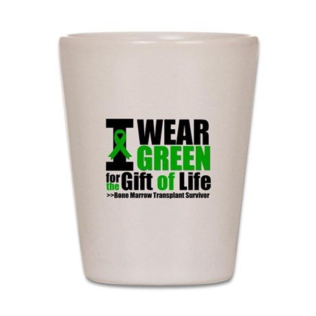 BMT I Wear Green Shot Glass