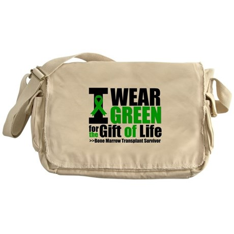 BMT I Wear Green Messenger Bag