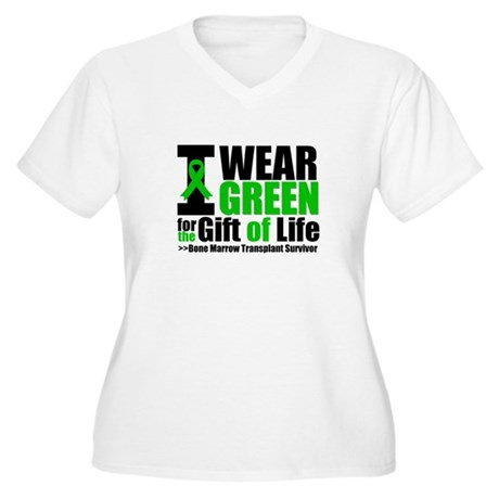 BMT I Wear Green Women's Plus Size V-Neck T-Shirt