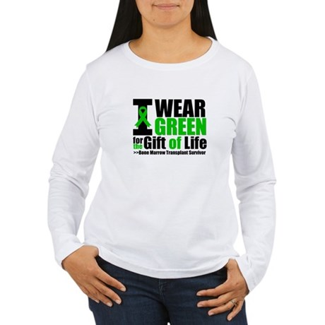 BMT I Wear Green Women's Long Sleeve T-Shirt