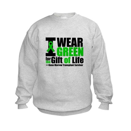 BMT I Wear Green Kids Sweatshirt