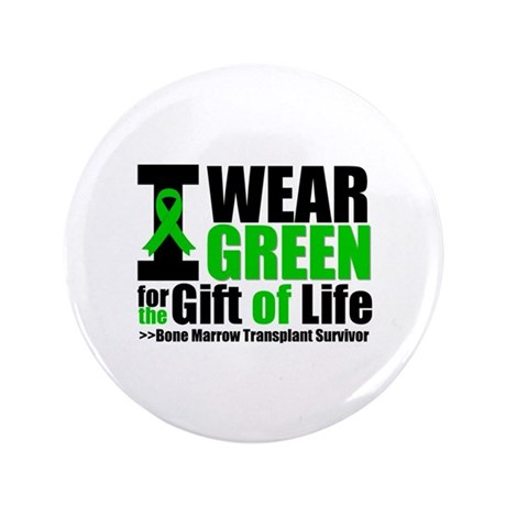 "BMT I Wear Green 3.5"" Button"