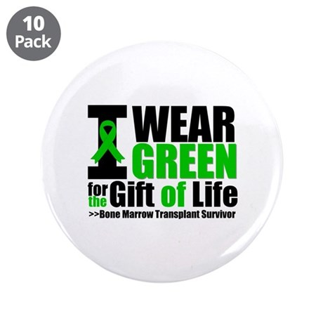 "BMT I Wear Green 3.5"" Button (10 pack)"