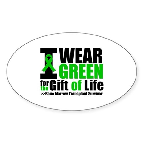 BMT I Wear Green Sticker (Oval 10 pk)