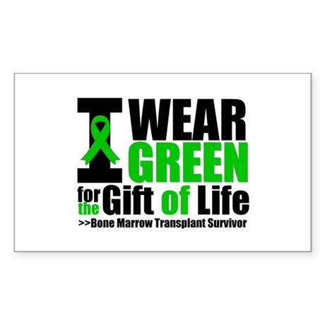 BMT I Wear Green Sticker (Rectangle 50 pk)