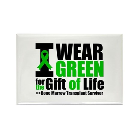 BMT I Wear Green Rectangle Magnet (100 pack)