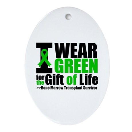 BMT I Wear Green Ornament (Oval)
